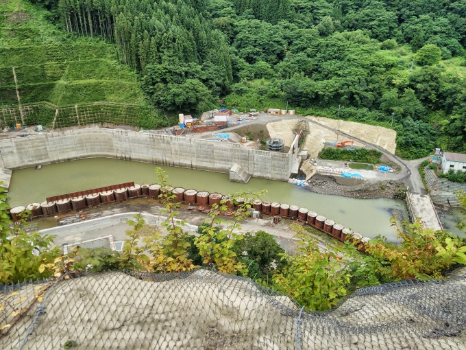 津軽ダムの下流