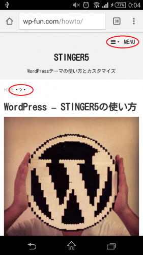 STINGER5公式サイトも点
